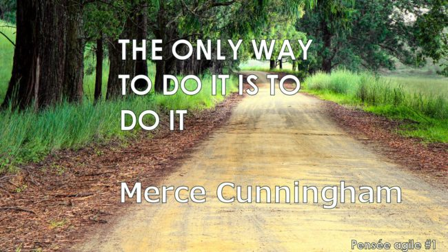 "Pensée agile de Merce Cunnigham ""The only way to do it is to dot it"""