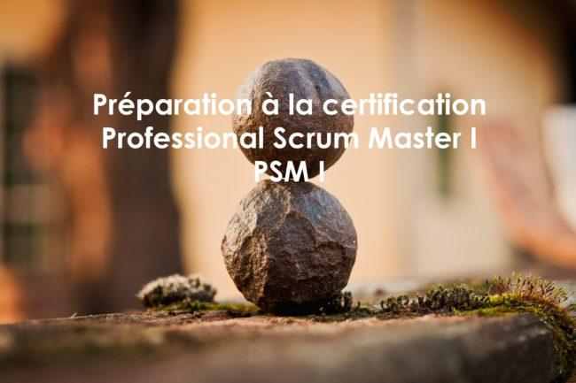 Préparation à  la certification Professional Scrum Master 1,  PSM 1 de scrum.org